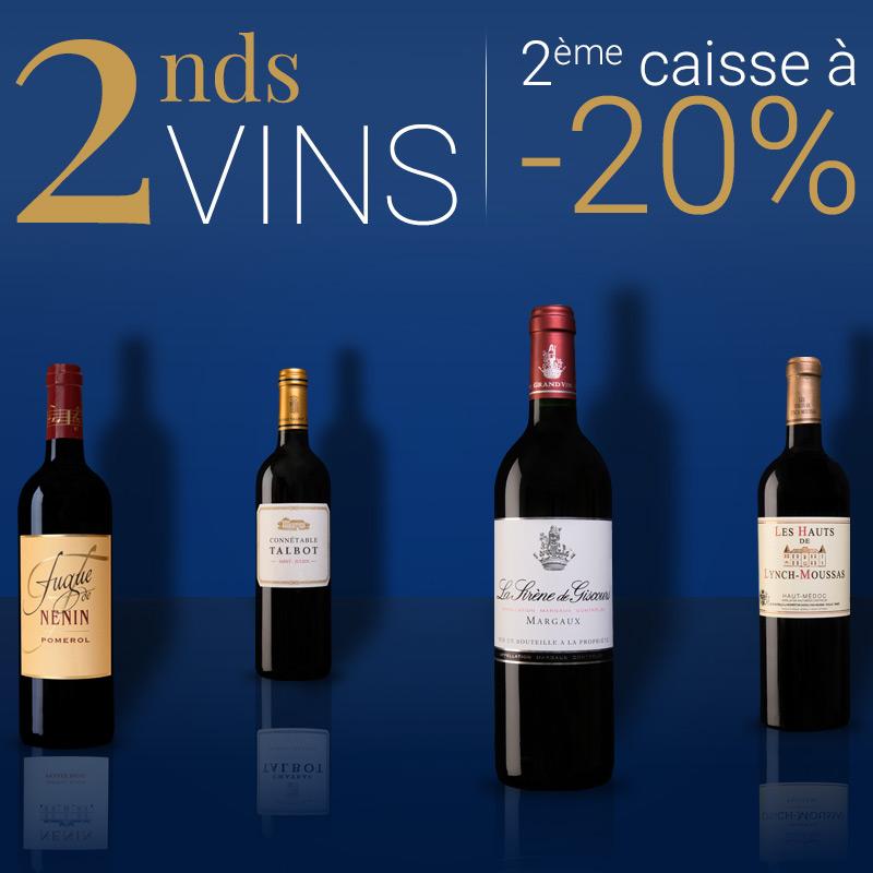 -20% sur la 2ème caisse d'un Second Vin