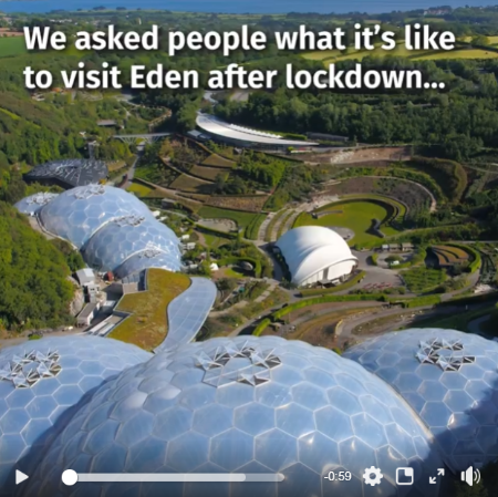 Visitors share their thoughts on The Eden Project