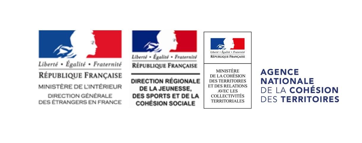 La Direction de l'Accueil, de l'Accompagnement des Étrangers et de la Nationalité (DAAEN) a retenu ce projet, qui a également été cofinancé par les Directions Régionales et/ou Départementales de la Jeunesse, des Sports et de la Cohésion Sociale (DRDJSCS) des trois territoires (Auvergne Rhône Alpes, Occitanie, Provence-Alpes-Côte d'Azur) avec le soutien du CGET.