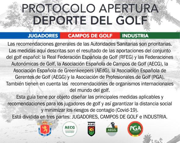 PROTOCOLO APERTURA DEPORTE DEL GOLF