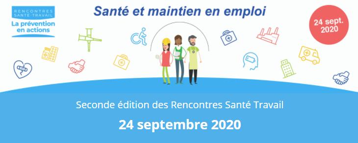 Seconde édition des Rencontres Santé Travail le 24 septembre 2020