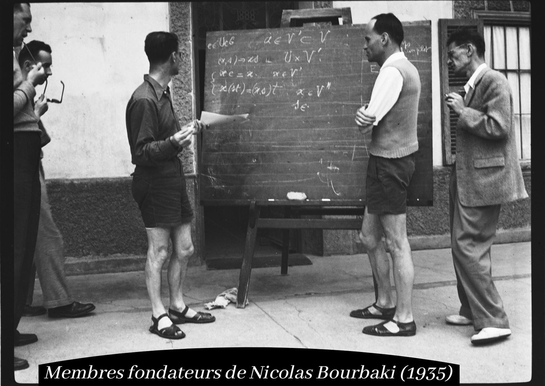 Membres fondateurs de Nicolas Bourbaki (1935)