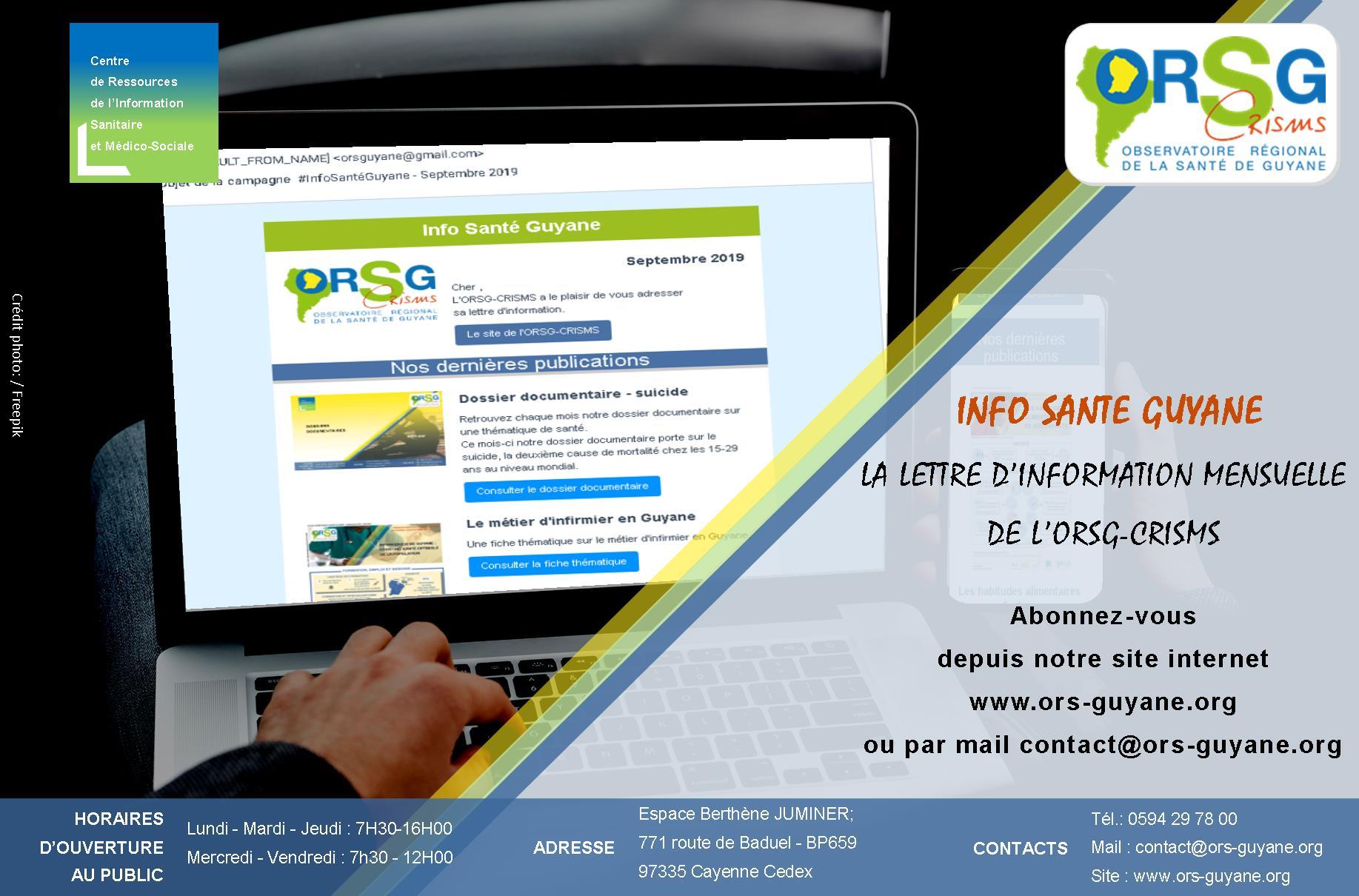 Affiche_lancement de la lettre d'information de l'ORSG-CRISMS