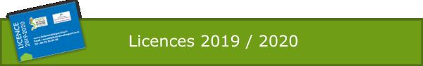 Licences 2019 / 2020