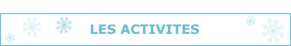 Les infos des activités