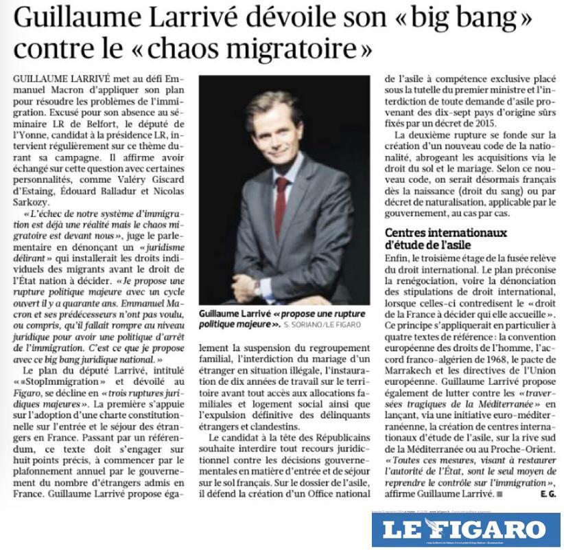 Guillaume Larrivé dévoile son big bang contre le chaos migratoire