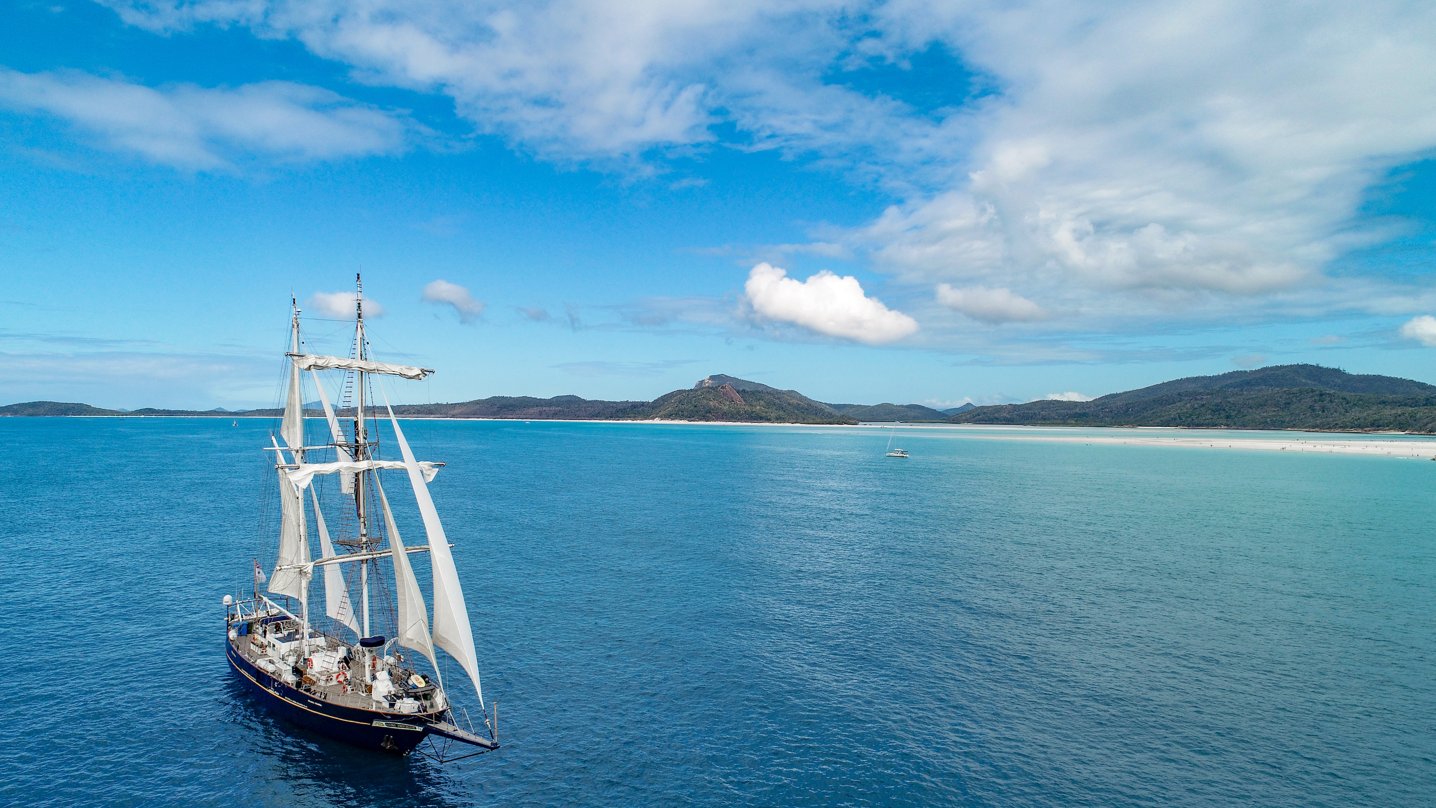 STS Young Endeavour near Whitehaven Beach QLD