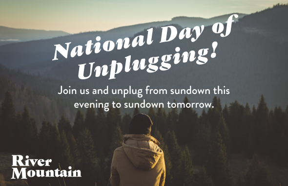 Celebrate National Day of Unplugging - Save 10%