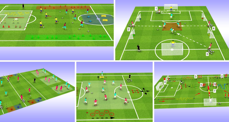 10 Exemples D Exercices D Echauffement Avec Ballon En Football