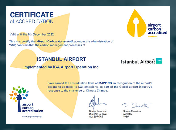 Carbon management efforts at Istanbul Airport gain international recognition