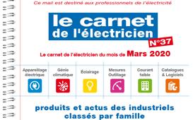 Le carnet de l'électricien N°37 est en ligne