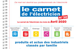 Le carnet de l'électricien N°38 est en ligne