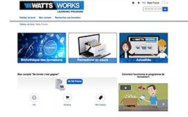 Plateforme de formation en ligne lancée par Watts