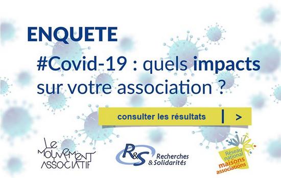 """Consulter les résultats de l'enquête """"Covid-19 : quels impacts sur votre association ?"""""""