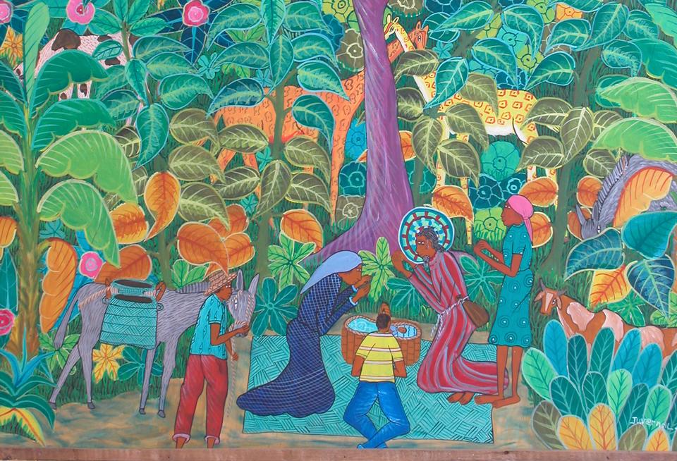 Nativité haïtienne, peinture de l'artiste Juvenal prise par Jean Yves Urfié