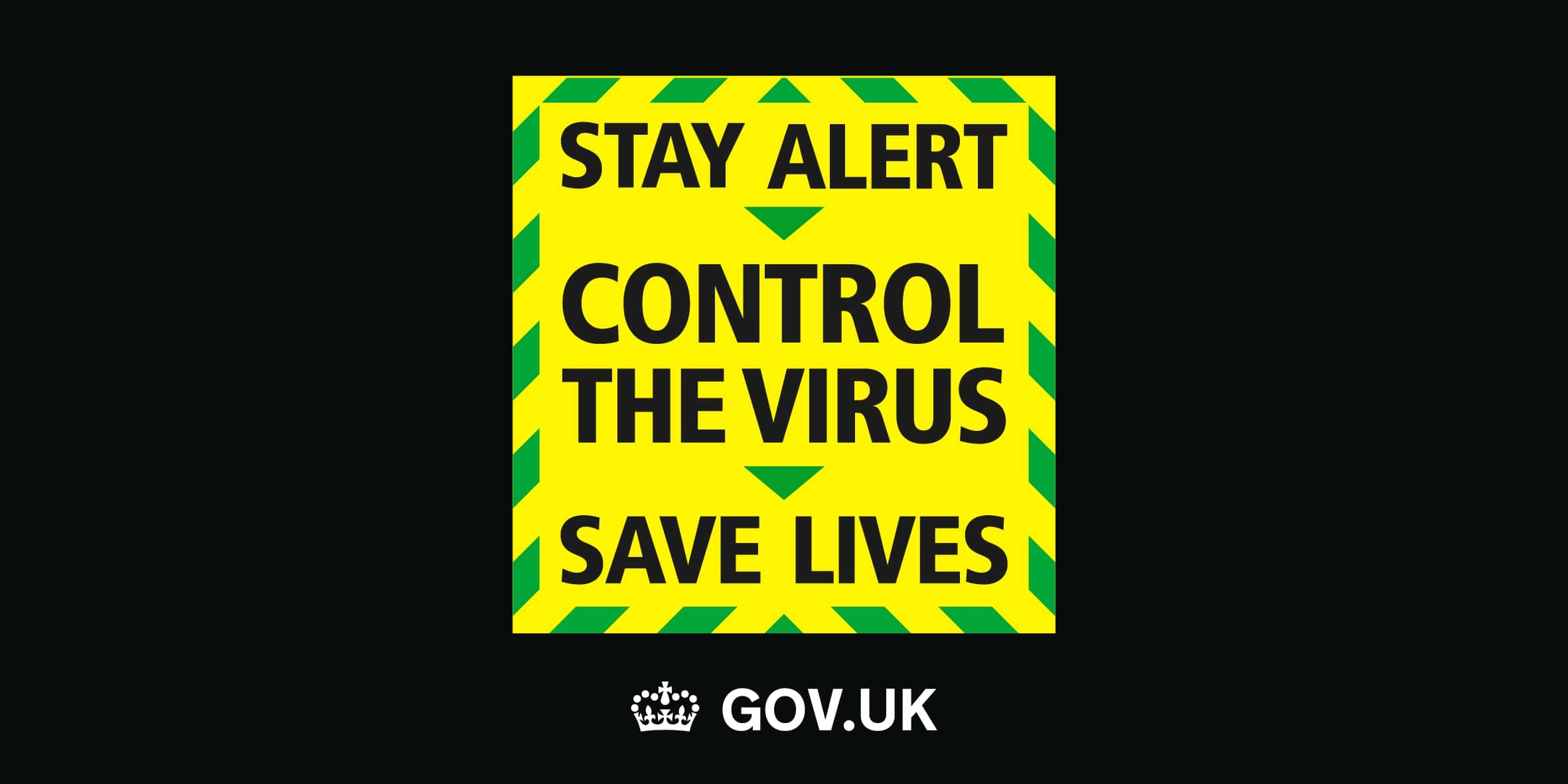 Covid-19 Stay Alert Government Poster