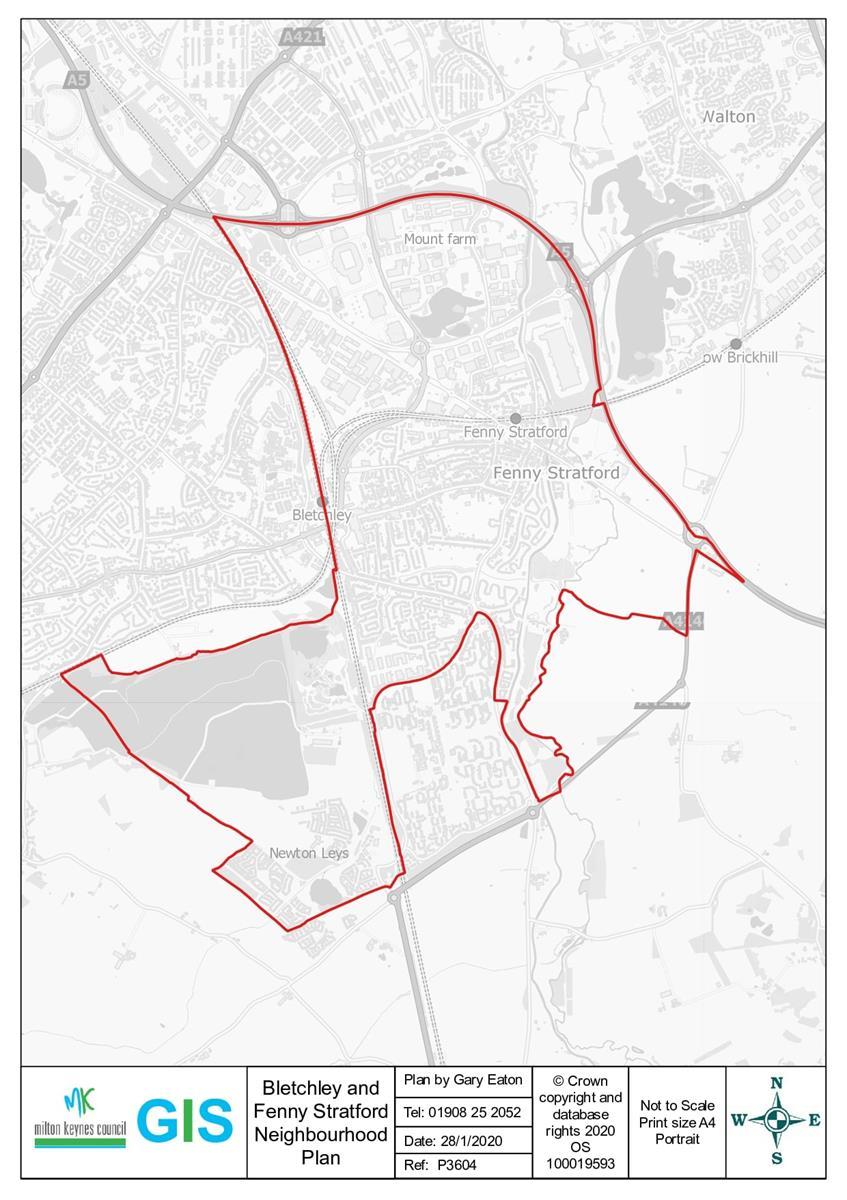 Image of map of Neighbourhood Plan area