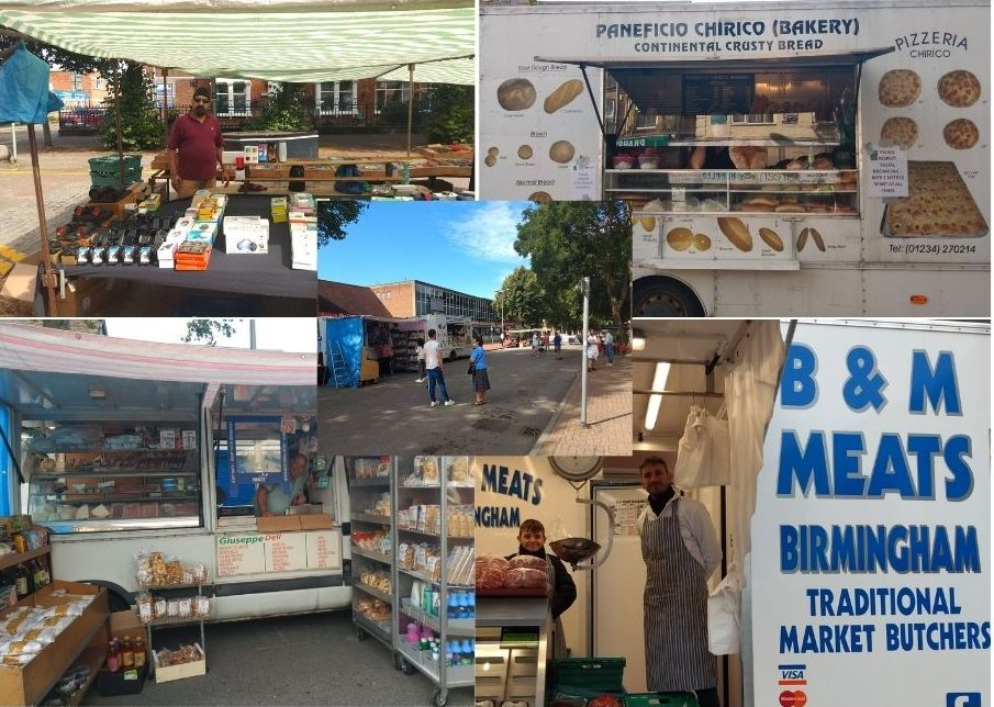 Market stalls in Bletchley