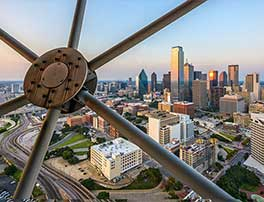 Dallas skyline from observation tower.