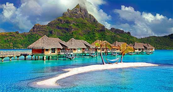 Beach in French Polynesia.