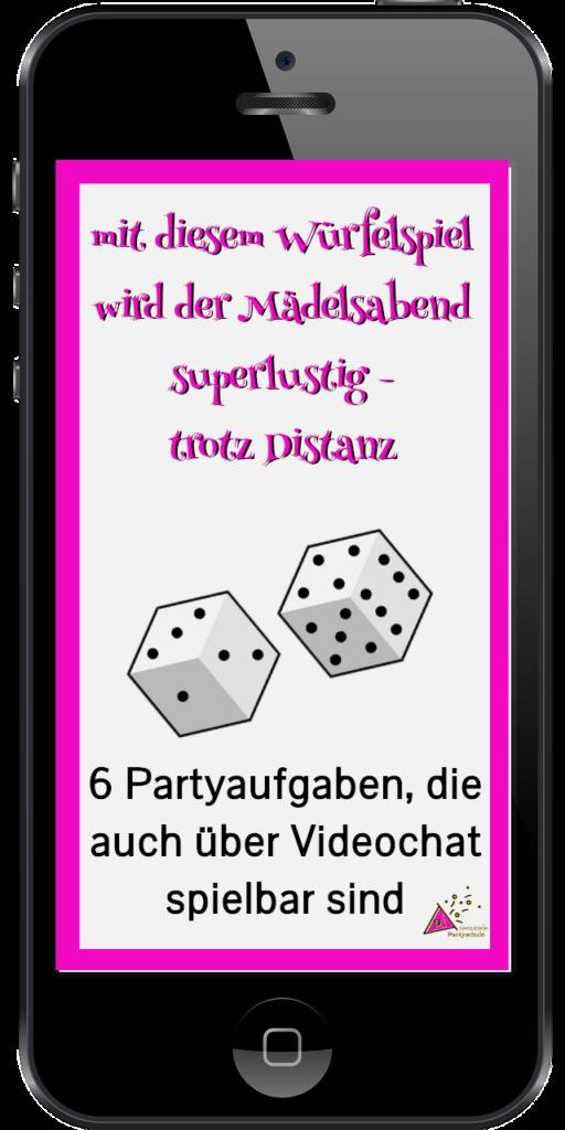 Smartphone mit Partyspiel