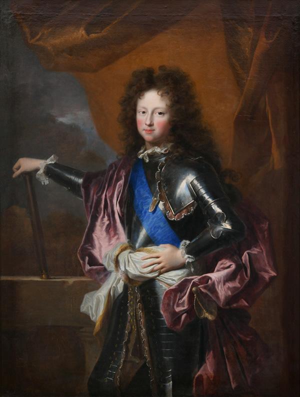 Hyacinthe Rigaud, (1659-1743). Portrait de Philippe d'Orléans, duc de Chartres, futur Régent,1689
