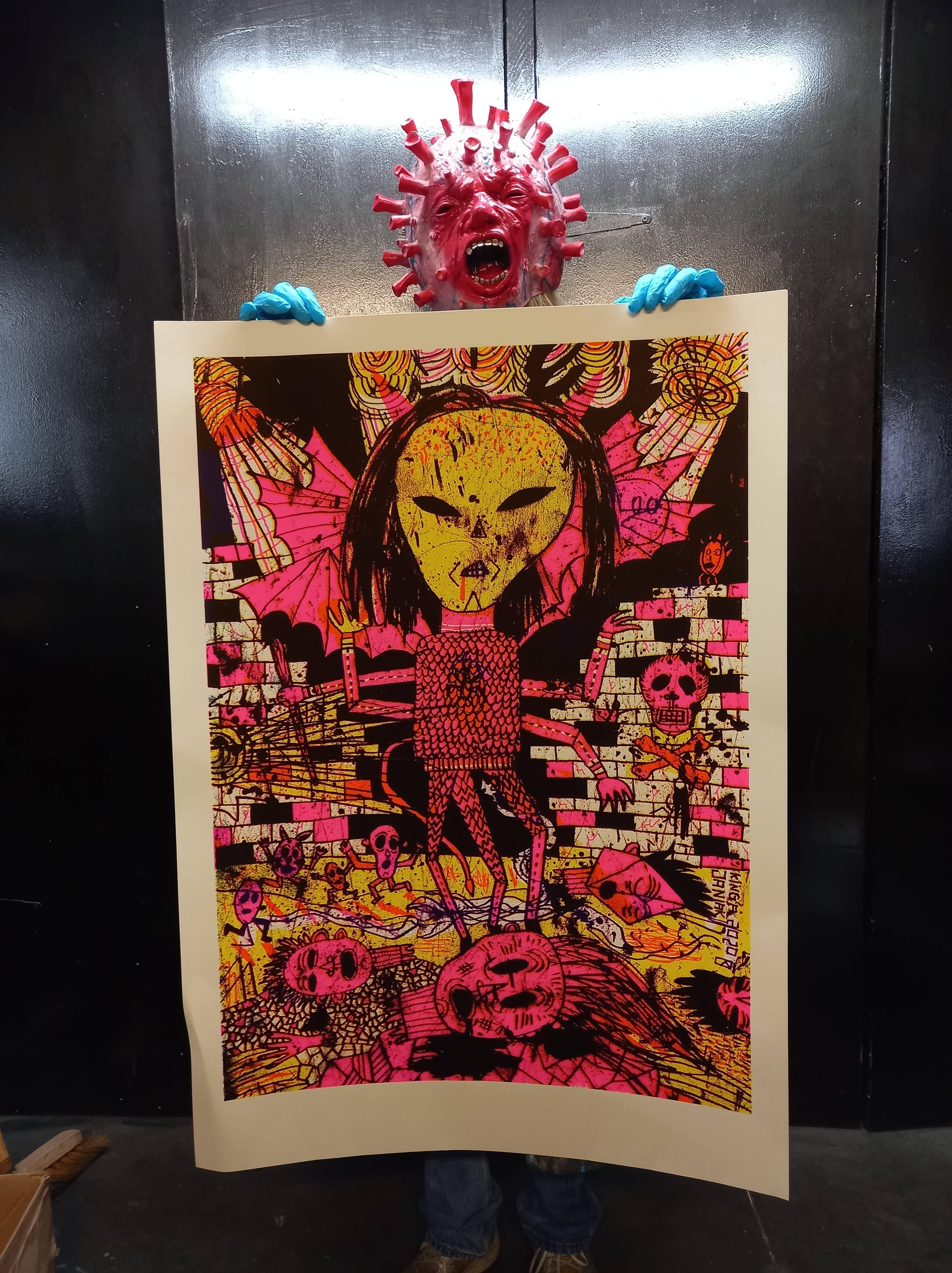 4 colors sickscreen / 50-70 cm / paper fedrigoni 300 grm / 50 copies